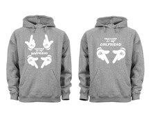 hot deal buy couples matching hoodies girlfriend property matching couple grey unisex s-3x hoodies sweatshirts