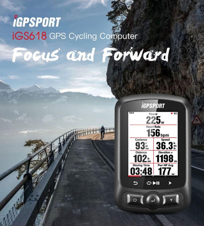 IGPSPORT ANT GPS IGS618 Bike Bicycle Bluetooth Wireless Stopwatch Speedometer Waterproof IPX7 Cycling Bike Speedometer Computer