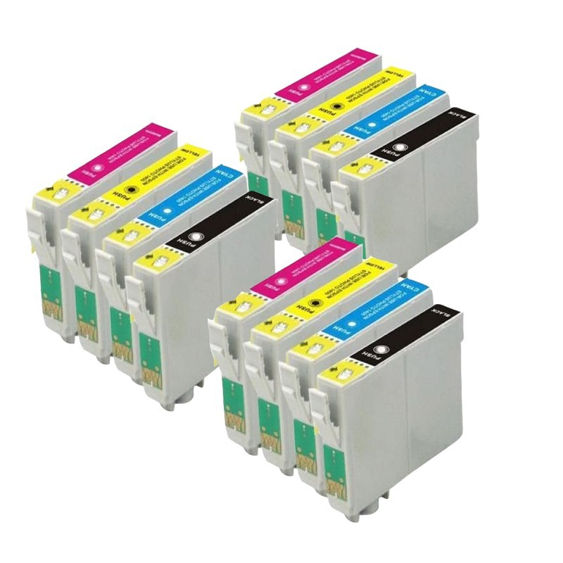 12 מחסניות דיו עבור STYLUS S22 SX125 SX130 SX235W SX420W SX425W SX435W SX445W BX305F BX305FW BX305plus מדפסות
