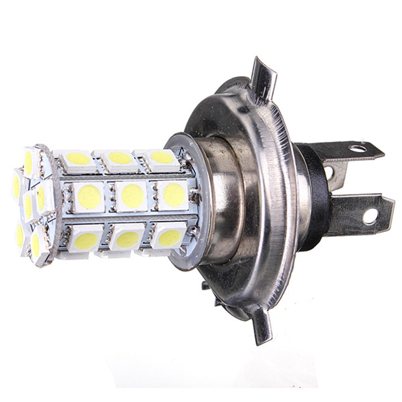 High Quality H4 White 9003 5050 27-SMD LED Bulbs Fog DRL Daytime Running Light Head Headlight DC12V dc12v h7 7 5w 5led led fog light high power car auto led xenon white daytime running light bulbs headlight head lights