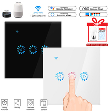 Smart Wireless Switch Touch Control Dimmable Panel Switch Compatible With Amazon Alexa Google Assistant Dimming Bulb As A Gift