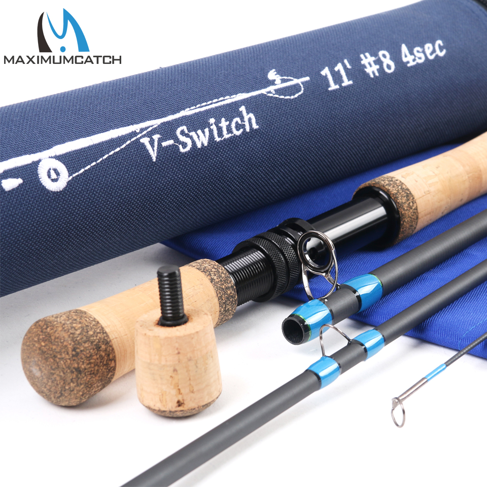 Maximumcatch Switch Fly Rod 10'6''/10'9''/11'/11'6'' 4-9 WT With Switchable Fighting Butts With Cordura Tube Fly Fishing Rod цена