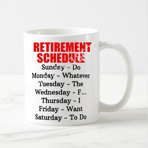 Funny Retirement Party Gift Retirement Schedule Calendar