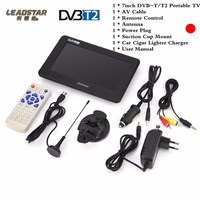7inch TFT LED Color Mini Portable TV Television Digital Analog Support TF Card USB Disk Outdoor