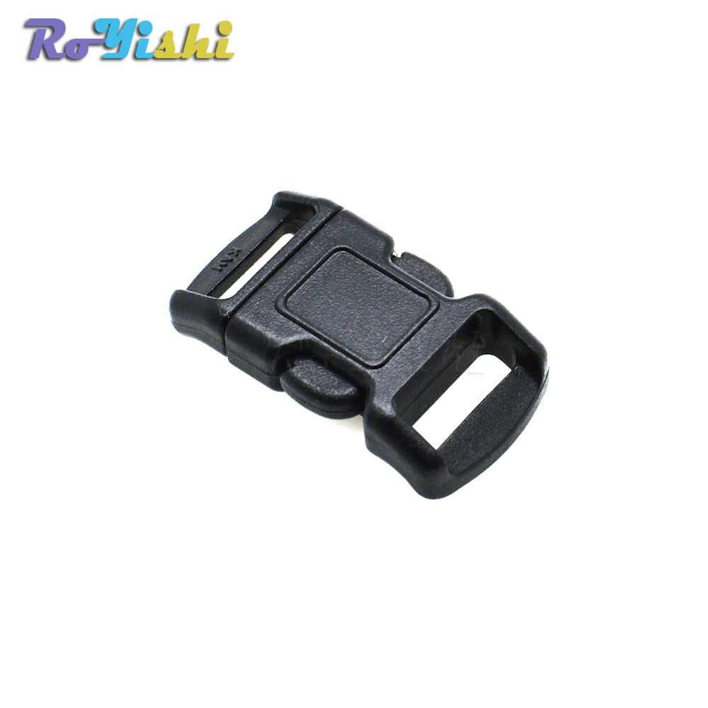"""1 piezas 3/8 """"(10mm) contorno lado liberación Mini hebillas para pulsera Paracord/collares de gato negro"""