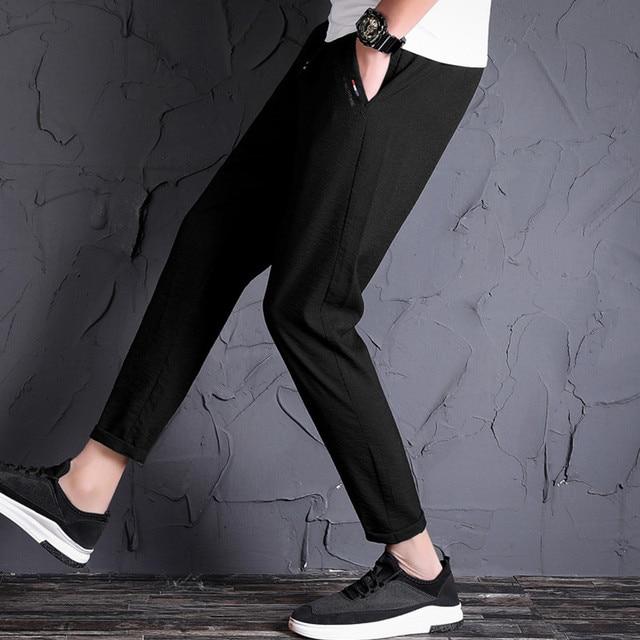 EL BARCO 2018 New Cotton Men Sweatpants Autumn Black Male Pencil Pants Casual Joggers Soft Breathable Long Trousers Pockets 3
