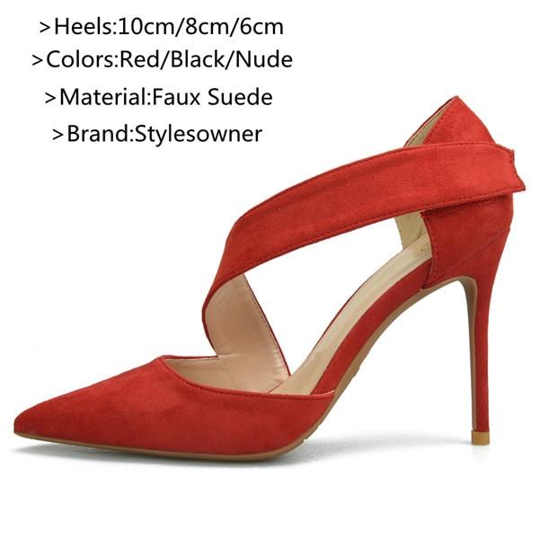 ... Color rojo Mujer Zapatos punta estrecha tacones finos Stiletto Zapatos  mujer La descripción de esta zapatos Tacón  10 cm 8 cm 6 cm Material   imitación ... 8e32c1dba6f1