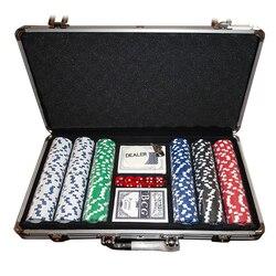2018 новые высококачественные 300 шт./компл. фишки для покера Пластик Casino Chips в форме фишек Казино техасский холдем покер оптом наборы с металли...