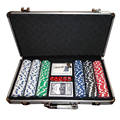 2018 New Hign Quality 300PCS/SET Poker Chips Plastic Casino Chips Texas Hold'em Poker Wholesale Sets With Metal Box HWC