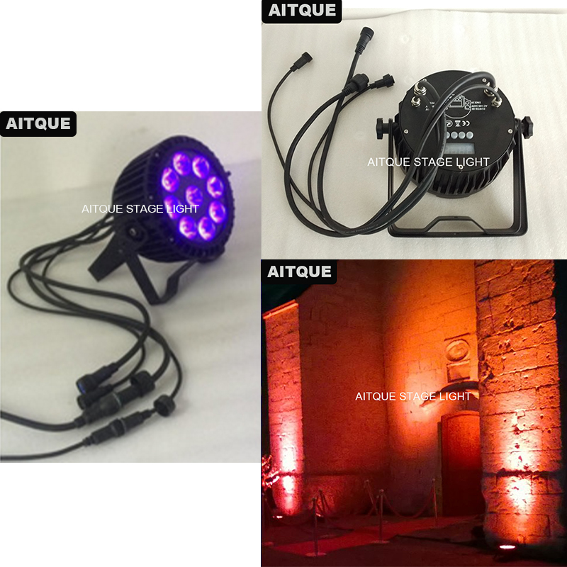 50lot Water Projector Par Led 9x18w Rgbaw Uv Led Par Light Ultraviolet Led Dmx Ip65 Led Par Can Light