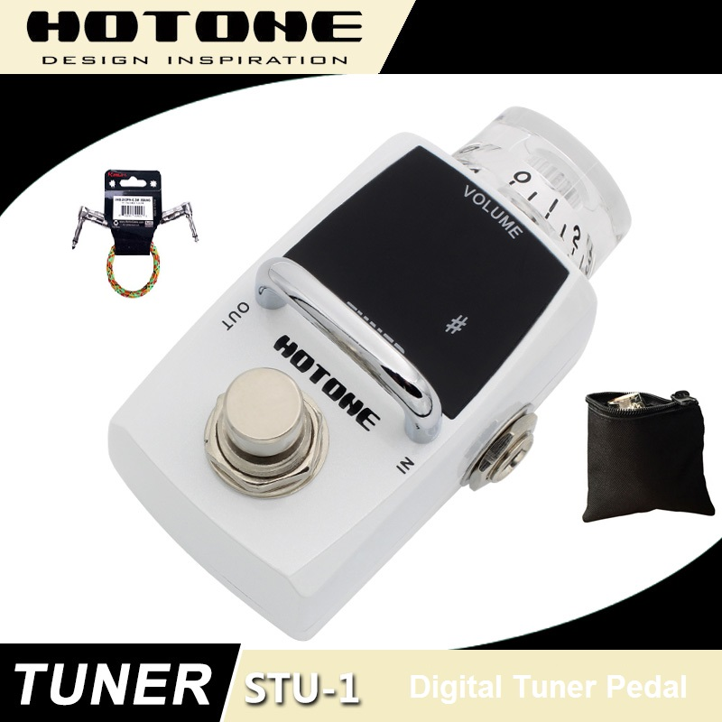 Hotone Skyline Series TUNER Guitar Tuner Pedal with Free Pedal Case and More mooer baby tuner tuner pedal 108 high brightness led and is visible even in strong light and sun guitar pedal effect pedal