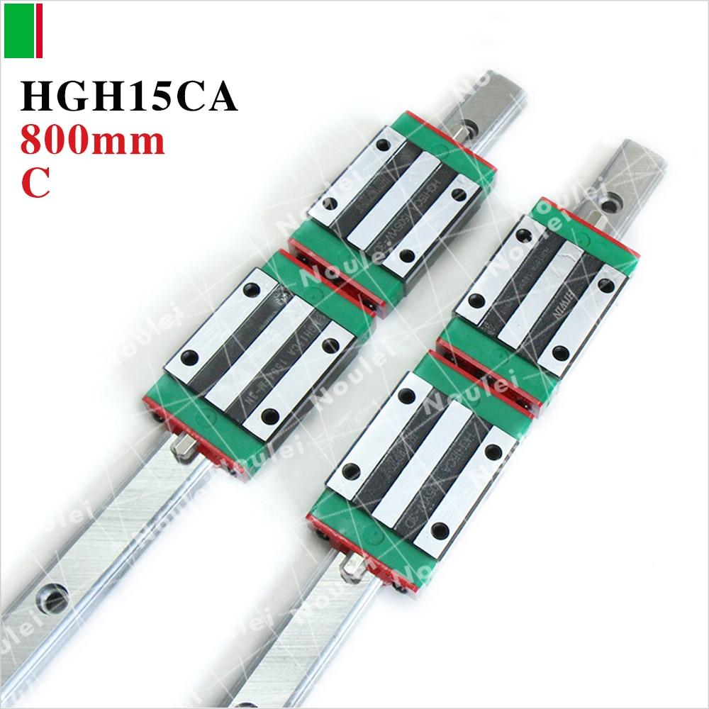 все цены на HIWIN HGH15CA 15mm slide block with 800mm linear guides rail HGR15 for diy CNC Parts онлайн