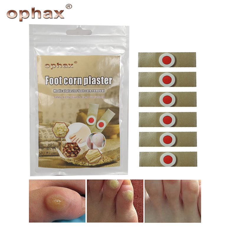 OPHAX 18Pcs Foot Corn Removal Foot Care Medical Plaster Calluses Plantar Warts Thorn Plaster For Rel