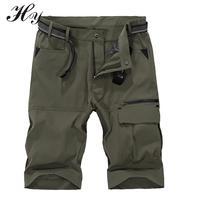 Impermeable transpirable Pantalones cortos trekking Pantalones cortos hombres cargo Pantalones cortos rodilla entrenamiento del ejército al aire libre deporte de secado rápido pantalón