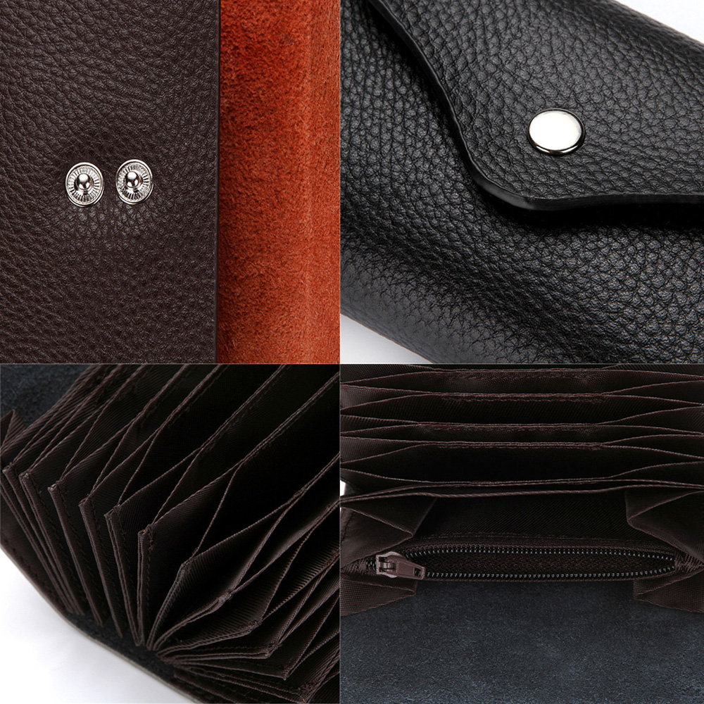 Fashion Leather ID Credit Card Holder Business Cards Wallet With ...