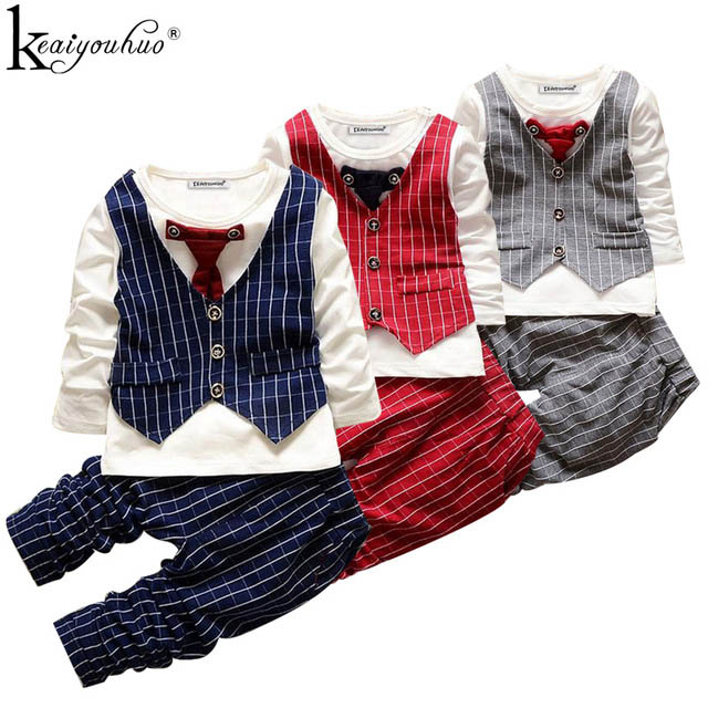 Keaiyouhuo детей Комплекты для девочек Комплекты одежды для маленьких мальчиков gentlema костюм с длинным рукавом Обувь для мальчиков спортивные Костюмы костюм для детей