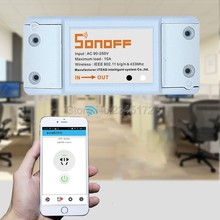 Sonoff Smart Remote Control Wireless Switch Universal Module Timer Wifi Switch Smart Home Controller Via IOS Android