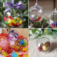 5 шт., 4-8 см, акриловый прозрачный шар, прозрачный пластиковый шар для свадьбы, коробка для конфет, Подарочная сумка, новогодние украшения для елки