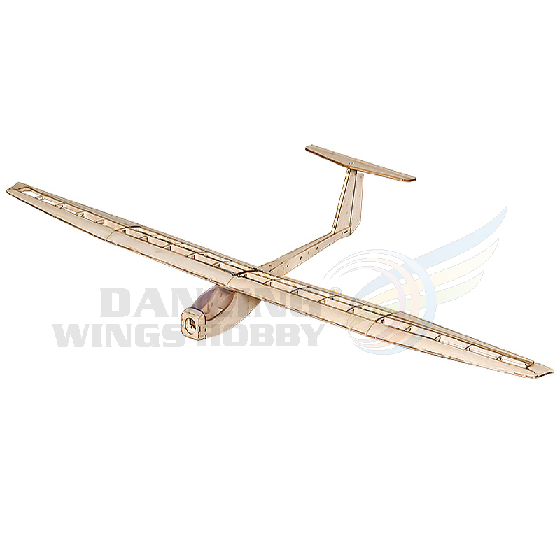 Freeshiping RC Plane Flying Model Gliders Balsa Wood Airplane Electric Power Glider Griffin 1.5M Wingspan Laser Cut Aircraft image