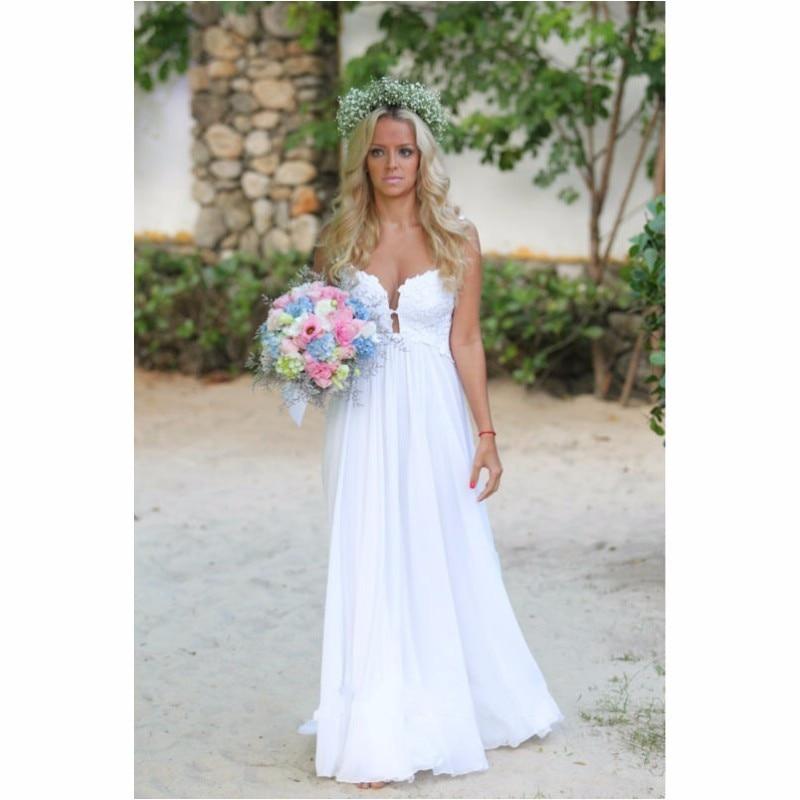 Simple Beach Style Wedding Dress : Buy wholesale beach bride dress from china