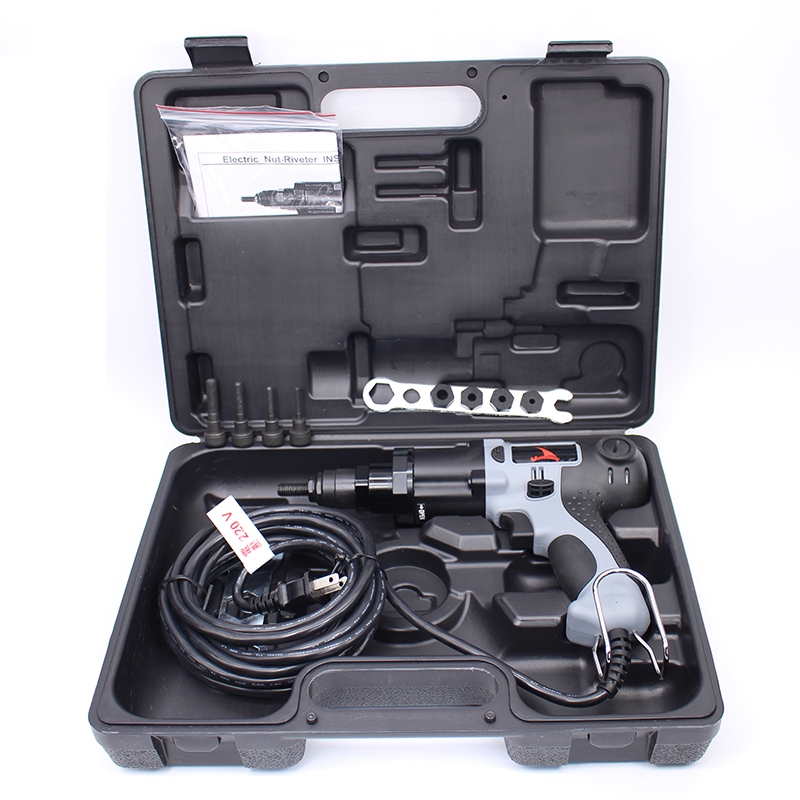 Aukštos kokybės YSM10 M4 / M5 / M6 / M8 / M10 220 V elektrinės kniedės veržlės pistoletas Elektrinis kniedės įrankis Elektrinis kniedės pistoletas