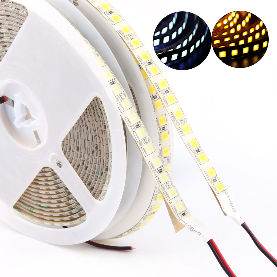 DC12V 12 24 V SMD 5054 LED Strip Light 5M 120leds/m Flexible Tape Ledstrip Diode Waterproof Brighter Than 5050white/Warm White