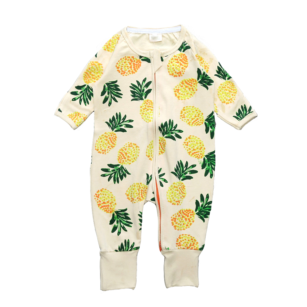 Newborn Jumpsuit Clothes 2017 Fashion Baby Rompers Bomuld Langermet Ananas Mønster Baby Kostume Børn Tøj Baby Coverall