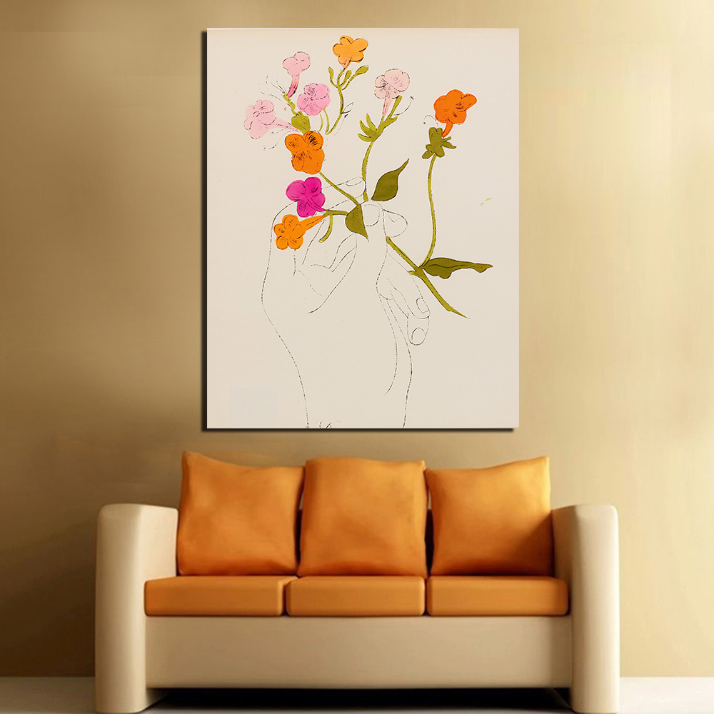 compare prices on pop art flowers online shopping buy low price wang art still life pop art andy warhol a gold book 1957 canvas art home decor