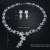 Loway exquisita flor cubic zirconia de boda collares y pendientes sistemas de la joyería nupcial al por mayor xl1892