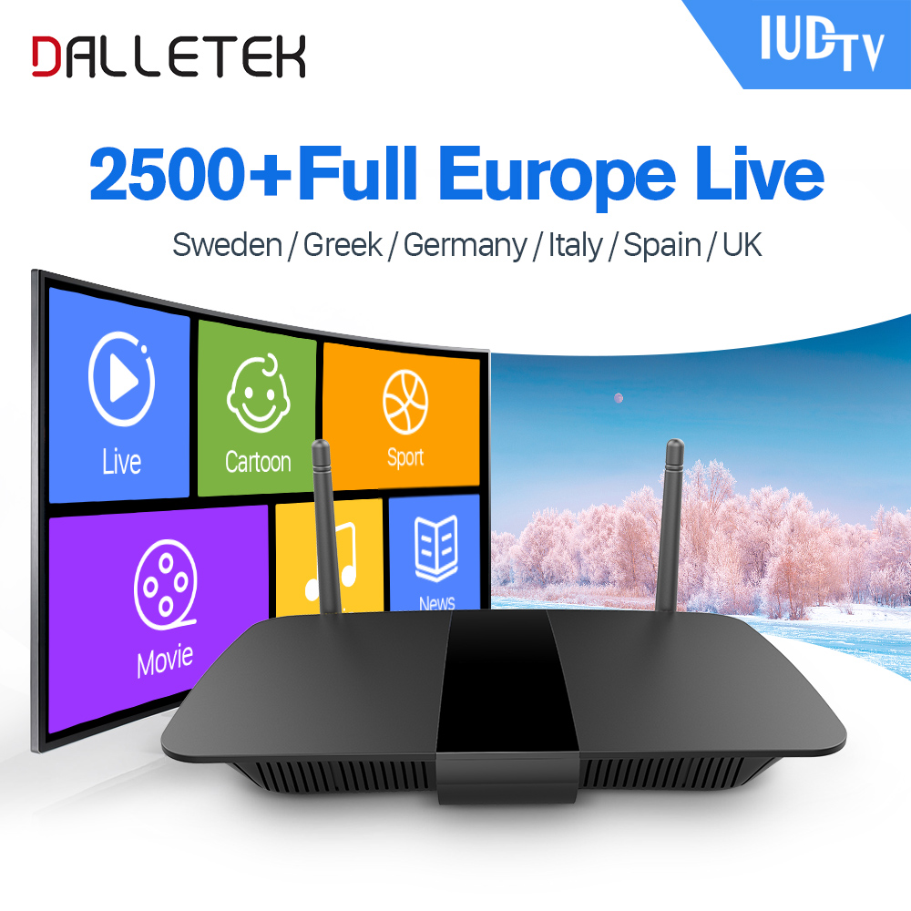 Iptv Europe TV BOX Android 6.0 1G/8G Smart Quad Core 2500 Channels IUDTV Subscription IPTV Sweden Italy Spain Arabic IPTV Box smart iptv box quad core android tv box 1g 8g with arabic iptv europe iptv subscription 1 year qhdtv iudtv account media player