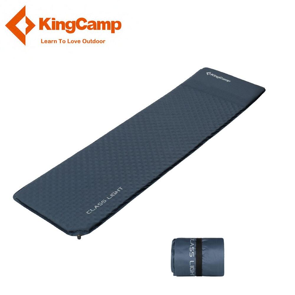 KingCamp Ultralight Sleeping Mattress Portable Self Inflatable Sleeping pad Damp-proof Picnic Camping Mat Sand Free Mat