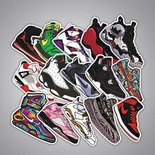 Autocollants mixtes marques chaussures, lot de 100 pièces, étiquettes cool, mode, sur mesure pour voiture, vélo, moto, téléphone, ordinateur portable, bagages,