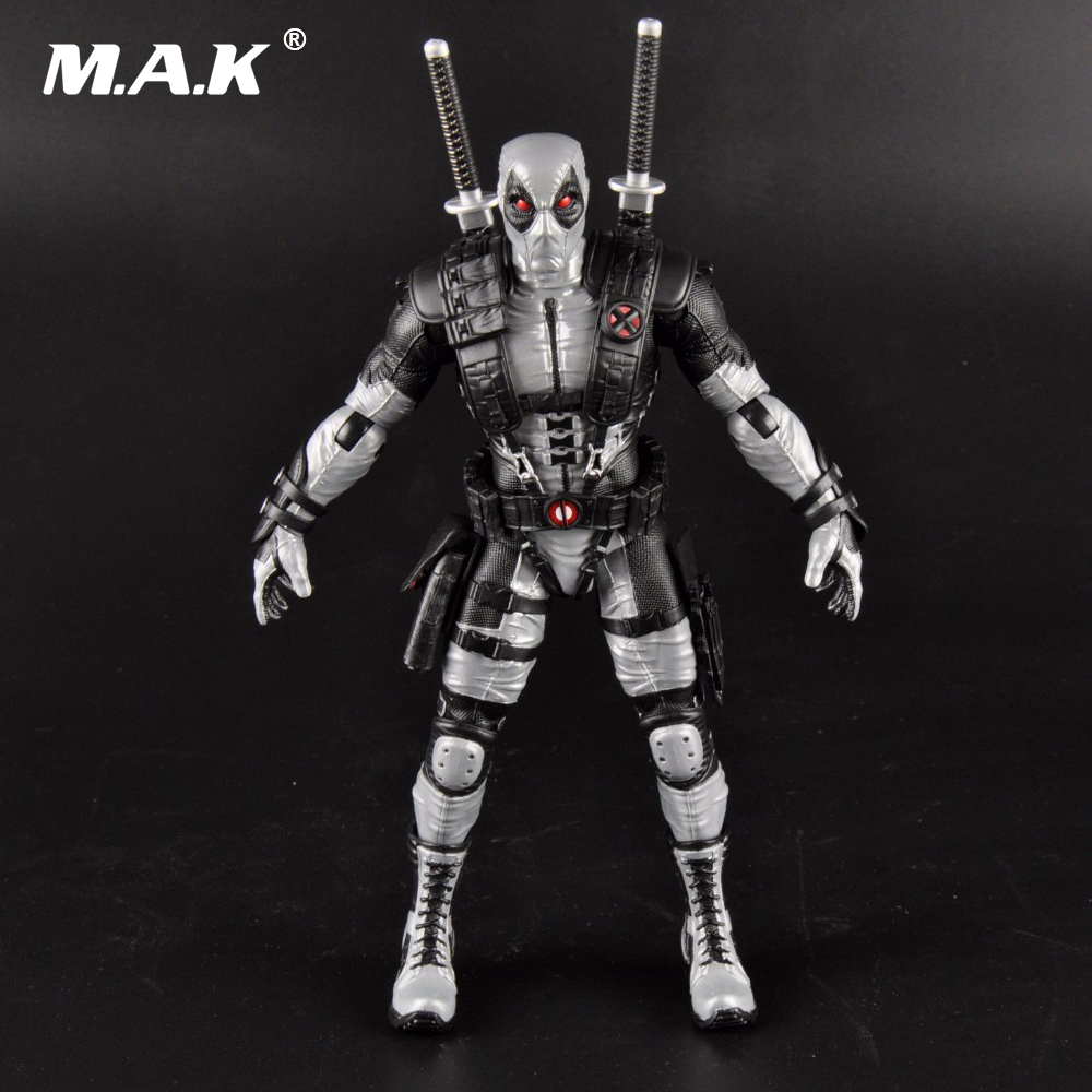 1/6 Scale 10 Silver Gray Deadpool X-Men Wolverine Universe Male Action Figure Model Toys   Collections 1 6 bloodstain normal wolverine claw hands type model for 12 inches male action figure