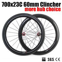 Basalt Brake Surface Racer Road Bicycle 700x23C 60mm Heighth Clincher Wheelset Full Carbon Wheelset With 3K