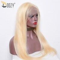 Doozy цвет 613 русский блондинка человеческие волосы Искусственные парики предварительно сорвал прямо перуанские волосы с неповрежденной кут