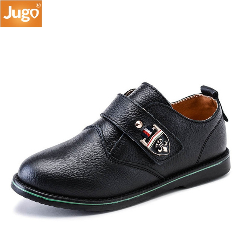 New Boys Leather Shoes Excellent Quality Black Light Classic Shoes Children Performance Leisure Formal Student Show