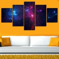 Impresso Estrelas Planetas Galáxias Decoração do Quarto da Pintura Sobre Tela de Impressão HD Imagem Cartaz Decoração Da Parede Da Lona Pintura Da Arte
