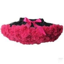 Юбка-пачка черно-ярко-розовая юбка для девочек Одежда для детей фотореквизиты для девочек на 1 день рождения