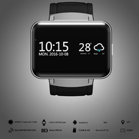 2017 New Wifi Bluetooth Watch Smart Watch DM98 2 2 Inch HD IPS LED Display Supports