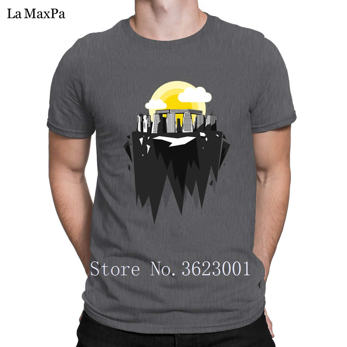 Latest Skyscrapers Stone Henge Silhouette Graphic Art T Shirt Costume Mens Tshirt Humorous T-Shirt For Men O-Neck Top Tee