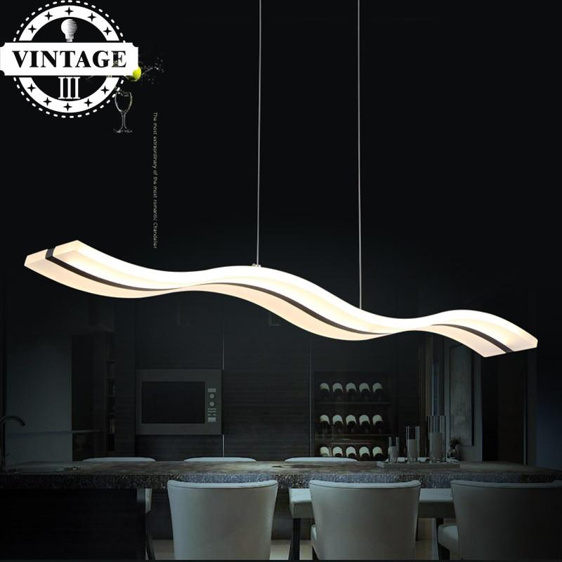 L100CM H150CM LED Pendant Lights Modern Wave Design for Dining Room White Acrylic LED Pendant Lamp Contemporary