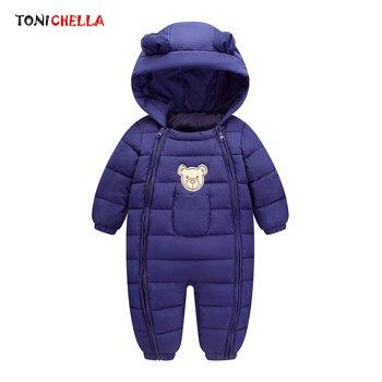 Desgaste da Neve Do Bebê inverno Quente Grosso Roupas Recém-nascidos Material Poliéster Crianças Com Capuz Crianças Outwear Meninos Roupas Meninas CL5010