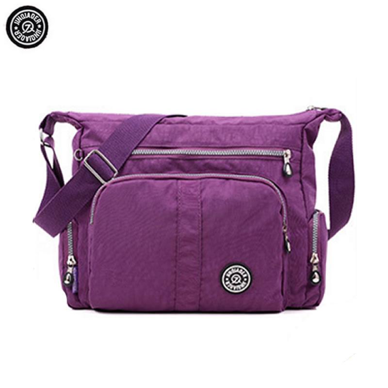 JINQIAOER Brand Waterproof Nylon Crossbody Bags for Women Quality Kip Fashion Design Shoulder Bag