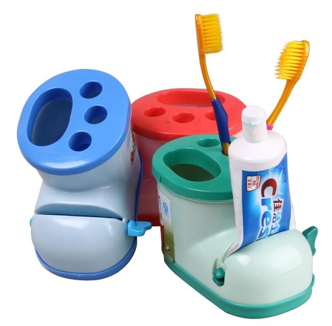 Fashion Storage boot toothbrush holder (with toothpaste squeezer) 12*7.5*8.3cm image