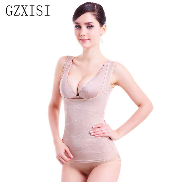 3f3535ab2e6f6 Online Shop Womens Shapewear tummy Control Tank Top shaper Slimming Waist  cincher Seamless Lace Cami vest Open Bust Camisole Shapewear