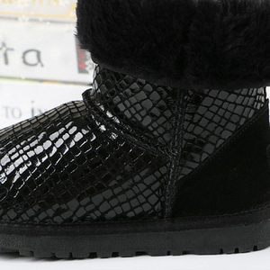 Image 4 - New women boots classic waterproof winter boots australian high quality snow boots genuine leather warm black shoes for woman