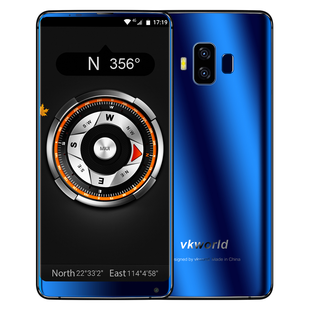 VKworld S8 4G 5.99'' FHD+ 18:9 Full Screen Face ID 16MP+13MP 5500mAh Octa Core 4GB+64GB Dual Back Cams Android 7.0 Mobile Phone