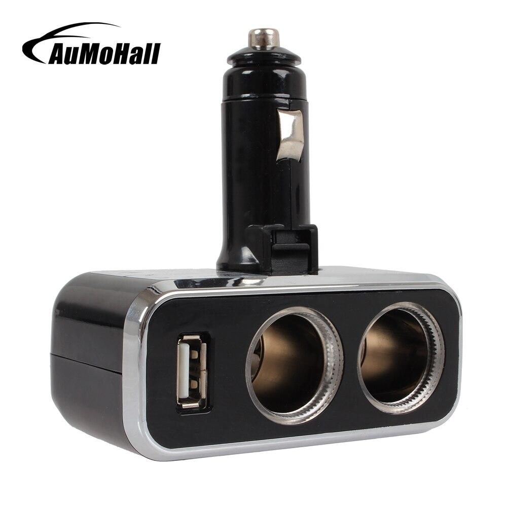 Aumohall 12v 24v Usb Car Charger Cigarettes Goospery Iphone 7 Plus Hybrid Dream Bumper Case Coral Blue Adapter For Mobile Phone