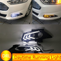 Brand New For Ford Mondeo Fusion 2013 2014 2015 12V LED Daytime Running Light Yellow Signal