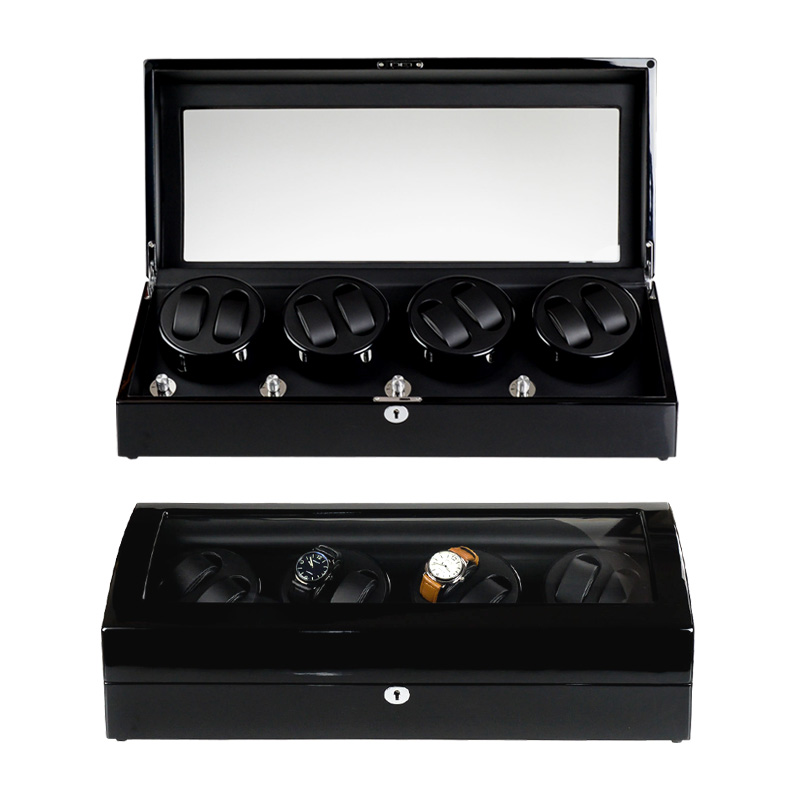 HIGH END Watch winder 8 + 9 Automatiske ure chain winder træ Reel winder Høj kvalitet rotationsur winder box ur display